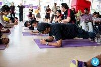 na zajęciach fitness