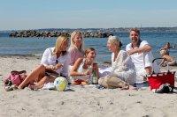 rodzina na plaży